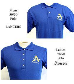 Mens & Ladies 50/50 Blue Polo
