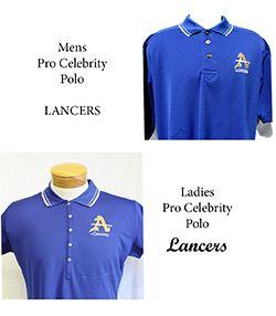 Mens & Ladies Pro Celebrity Blue Polo