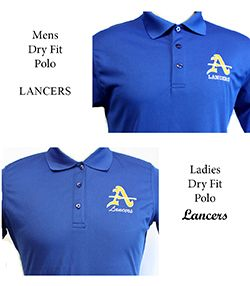 Mens & Ladies Dry Fit Blue Polo