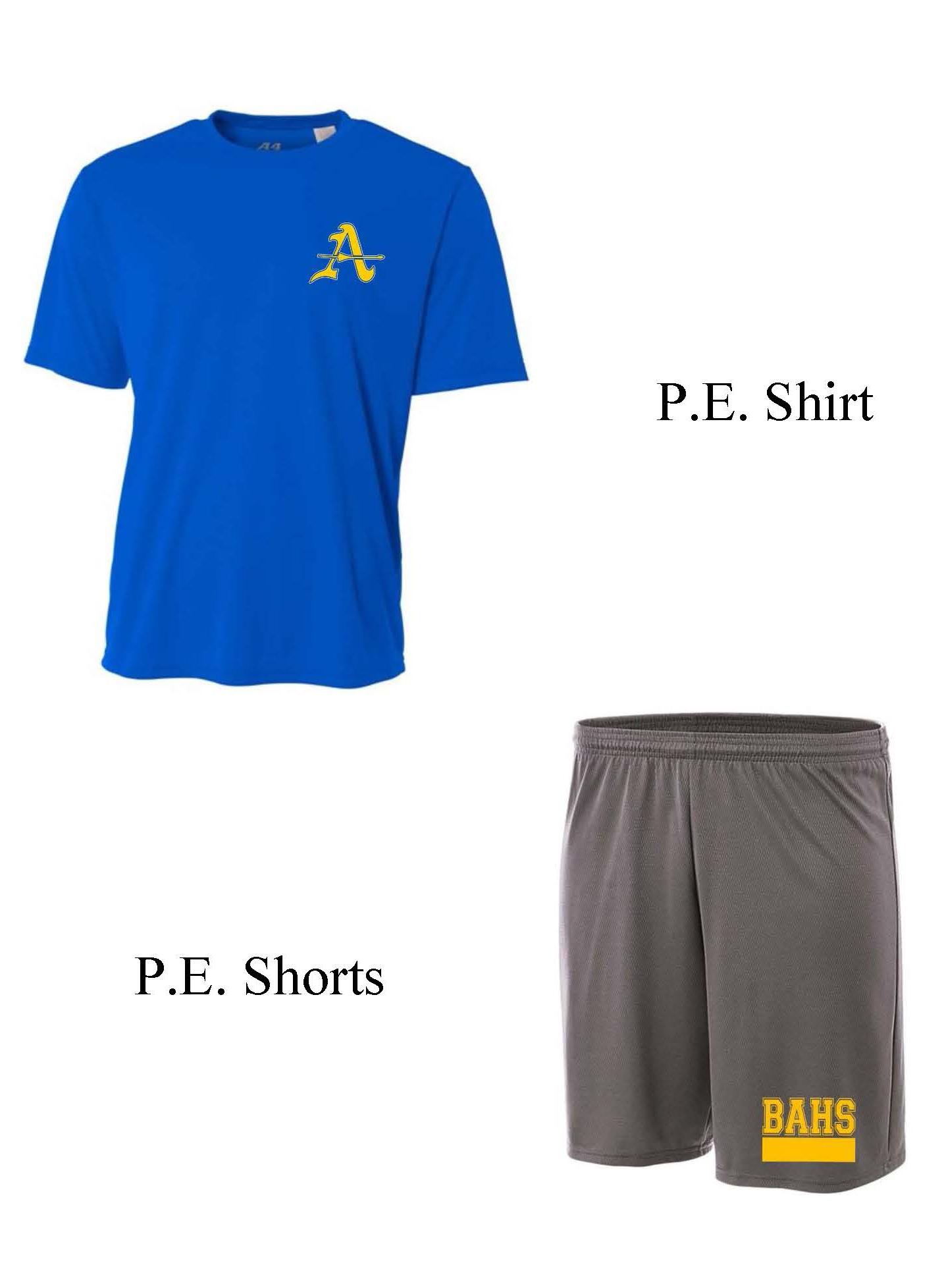 PE Shirt and Shorts