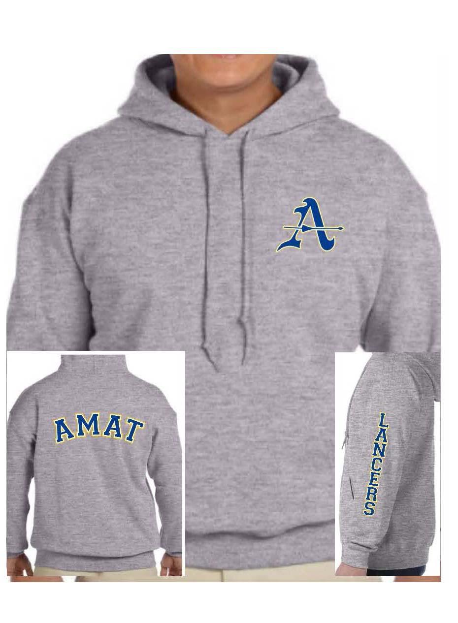Sport Grey Hooded Sweatshirt